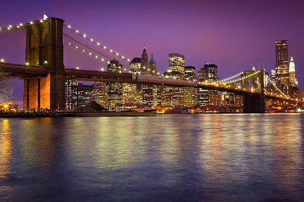 Brooklyn Bridge Print by Inge Johnsson