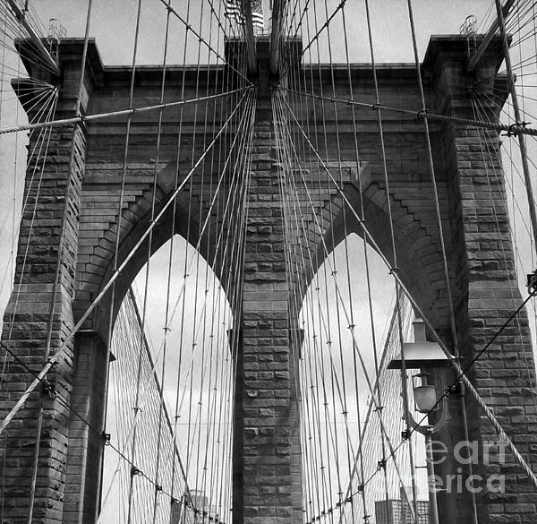 Brooklyn Bridge New York City In Black And White by ...