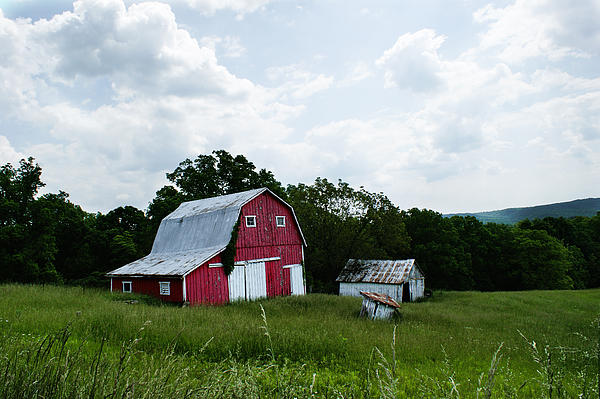 Brown County Barn Print by Off The Beaten Path Photography - Andrew Alexander