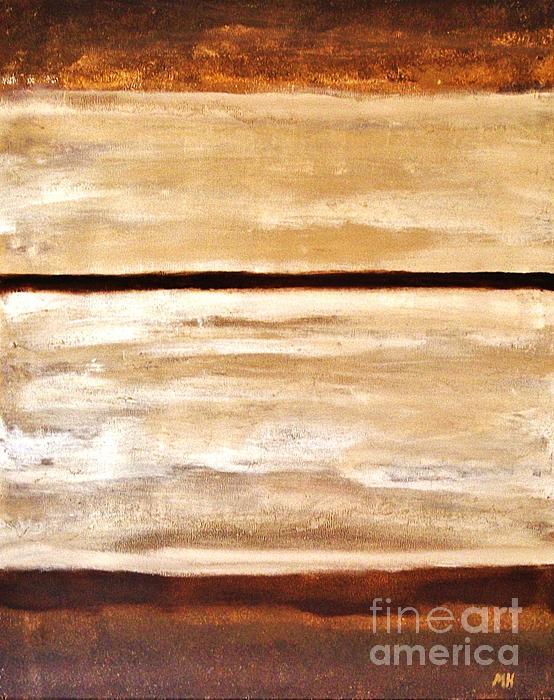 Browns Thru White Tones Print by Marsha Heiken