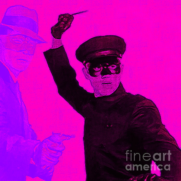 Bruce Lee Kato And The Green Hornet - Square M88 Print by Wingsdomain Art and Photography