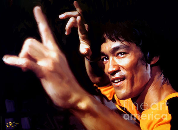 Bruce Lee Print by Paul Tagliamonte