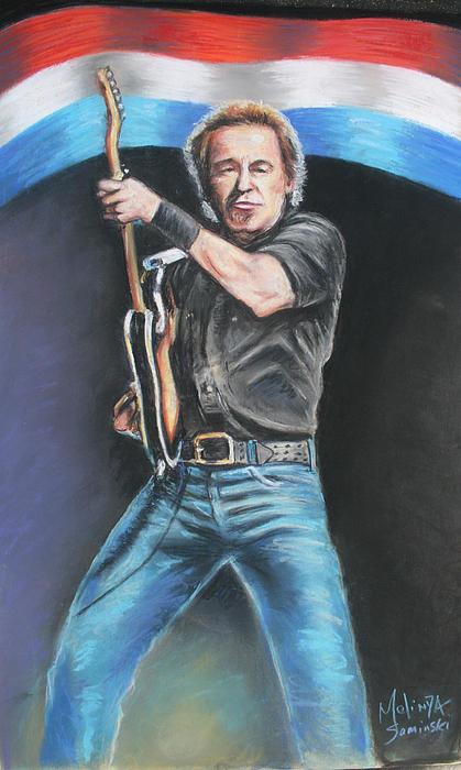 Bruce Springsteen  Print by Melinda Saminski