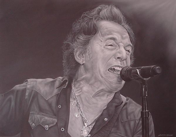 Bruce Springsteen V Print by David Dunne