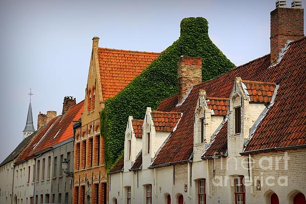Bruges Rooftops Print by Carol Groenen