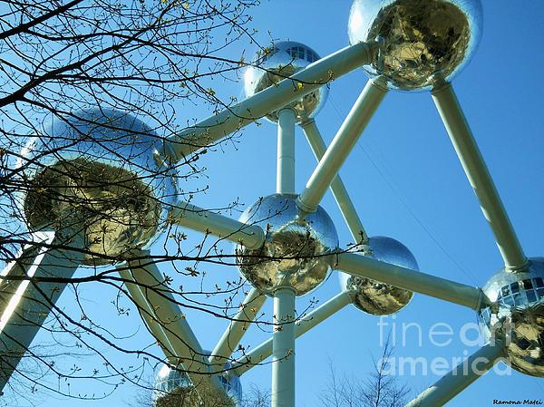 Brussels Urban Blue Print by Ramona Matei