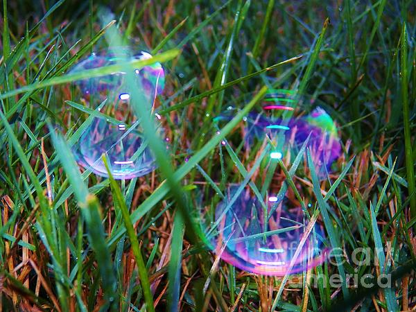 Bubble Illusions 1 Print by Judy Via-Wolff