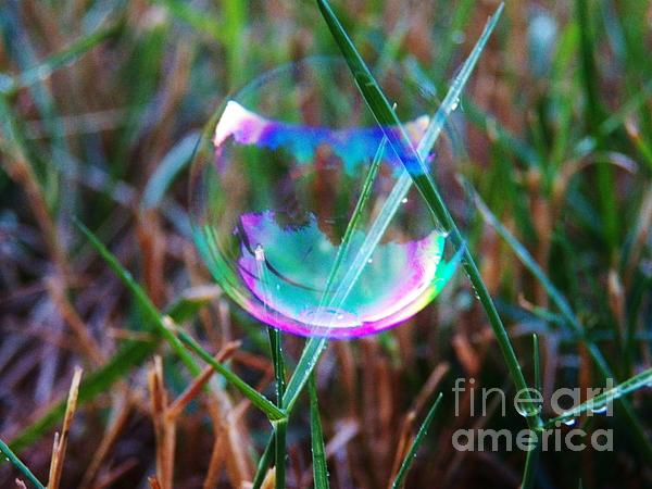Bubble Illusions 4 Print by Judy Via-Wolff