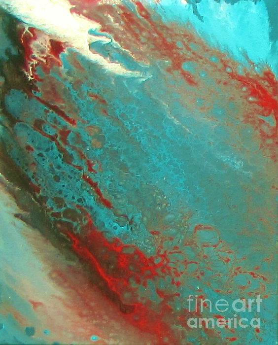 Bubbles In The Ocean Print by Bozena Simeth