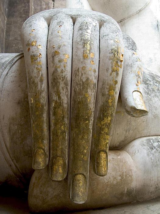 Buddha Hand Print by Zina Zinchik