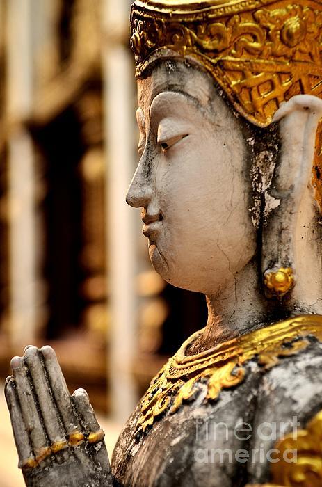 Buddha - Namaskara Mudra Print by Dean Harte