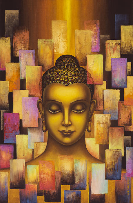 Buddha. Rainbow Body Print by Yuliya Glavnaya