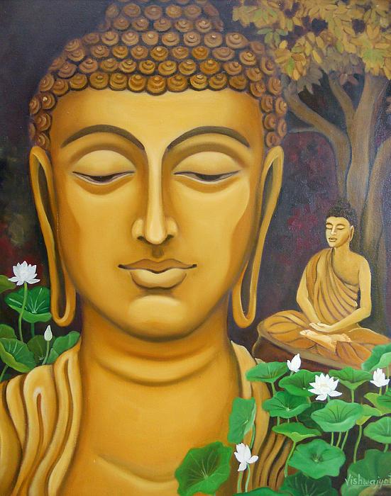 Buddha Print by Vishwajyoti Mohrhoff
