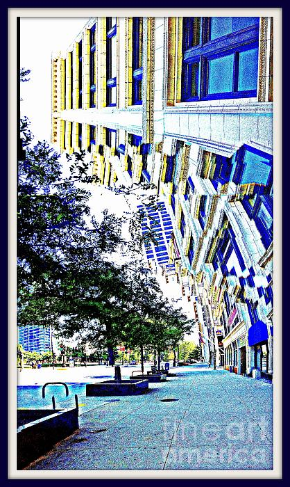 Buildings In Flux Print by Scott Dixon