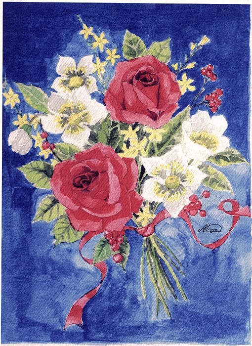 Bunch Of Flowers Print by Alban Dizdari