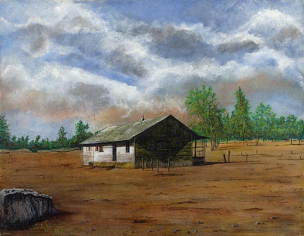 Bunk House Cheyenne Wy Print by Stuart B Yaeger