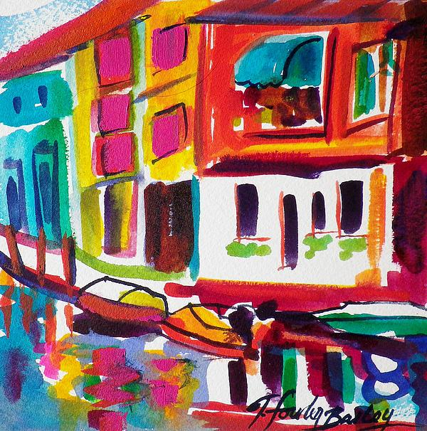 Burano Italy Side Street Sold Original Print by Therese Fowler-Bailey