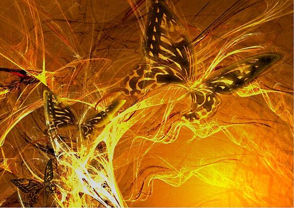 Burning Butterflies Print by Ela Zakrzewska
