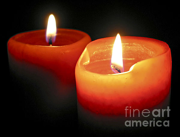 Burning Candles Print by Elena Elisseeva