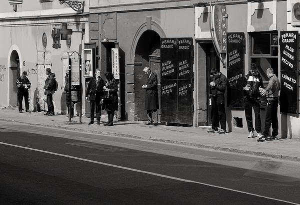 Bus Stop Print by Zeljko Dozet