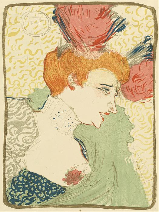 Bust Of Mlle. Marcelle Lender Print by Toulouse-Lautrec
