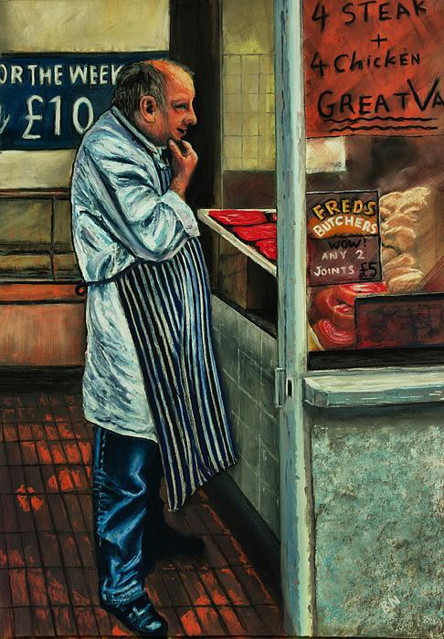 Butchers Profit Print by Bob Northway