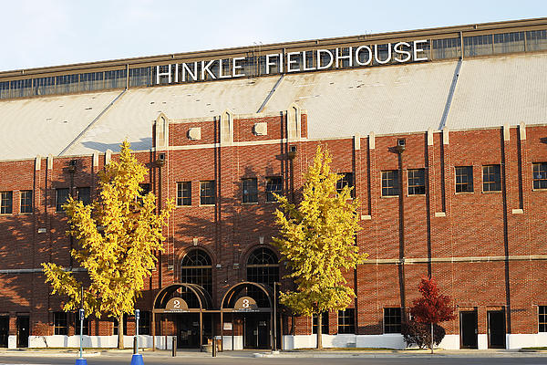 Butler Bulldogs Hinkle Fieldhouse In The Fall Print by Replay Photos