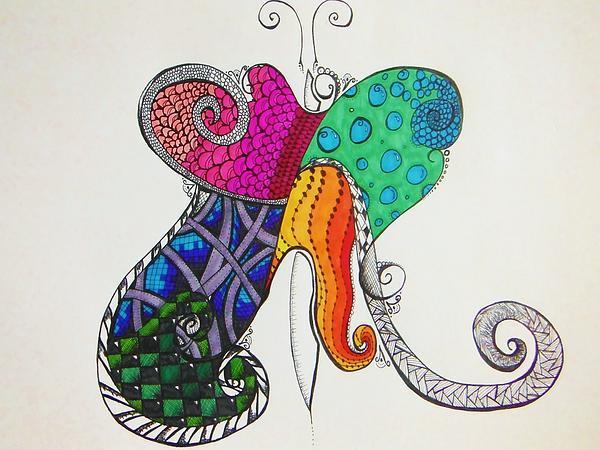 Butterflies Print by Lori Thompson