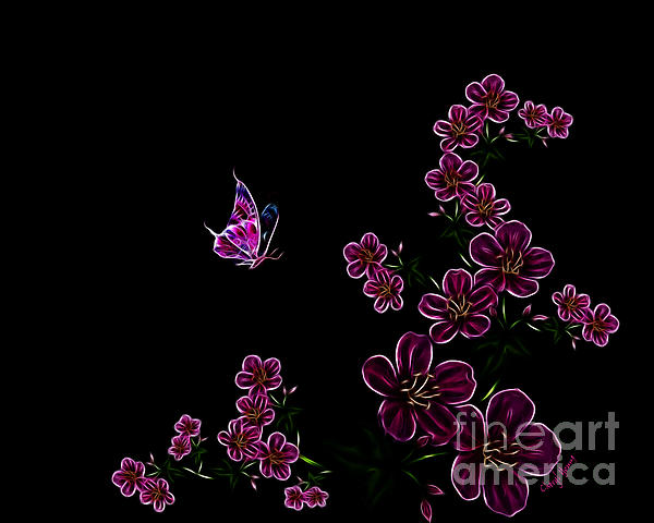 Butterfly Dancer 1 Print by Cheryl Young