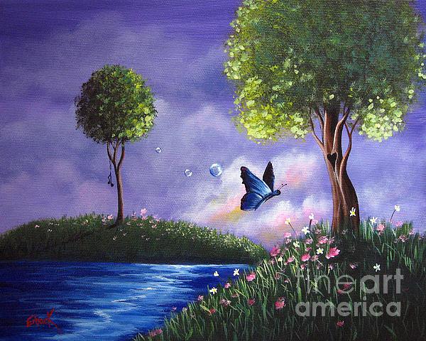 Butterfly Lake By Shawna Erback Print by Shawna Erback