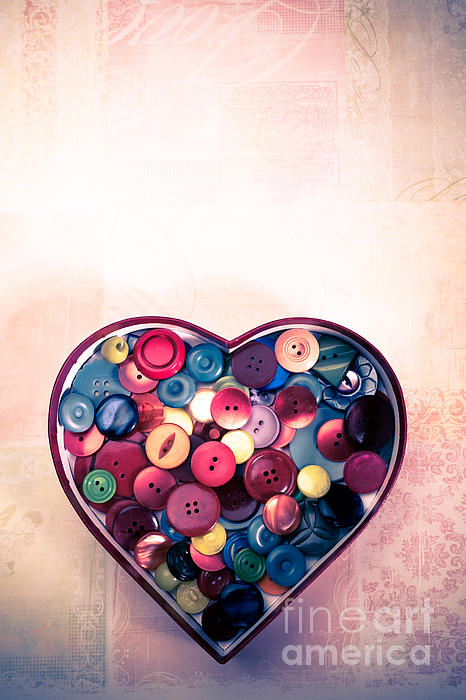 Button Love Print by Jan Bickerton