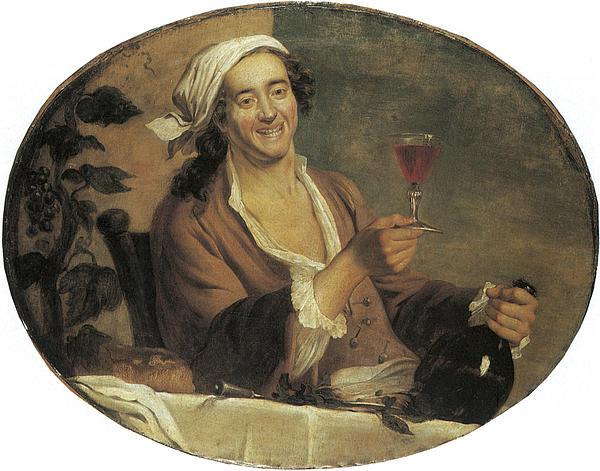 Buveur De Vin Print by Etinne Jeaurat