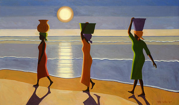 By The Beach Print by Tilly Willis