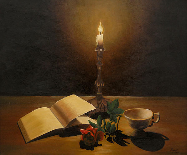 By the candle by andreja dujnic for Candle painting medium