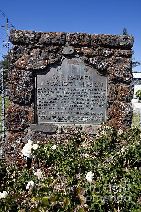 Ca-220 San Rafael Arcangel Mission Print by Jason O Watson
