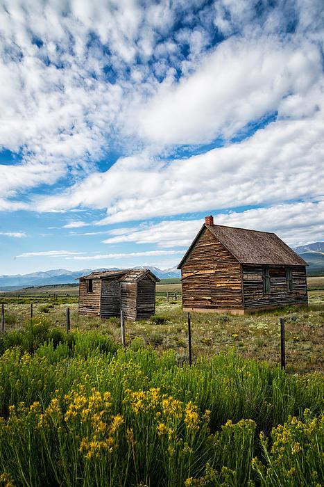 Cabin In Leadville Colorado By Brett Perucco