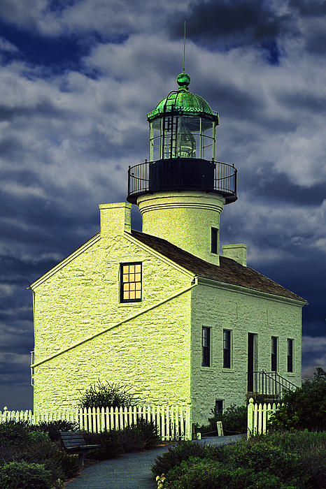 Cabrillo National Monument Lighthouse No 1 Print by Randall Nyhof