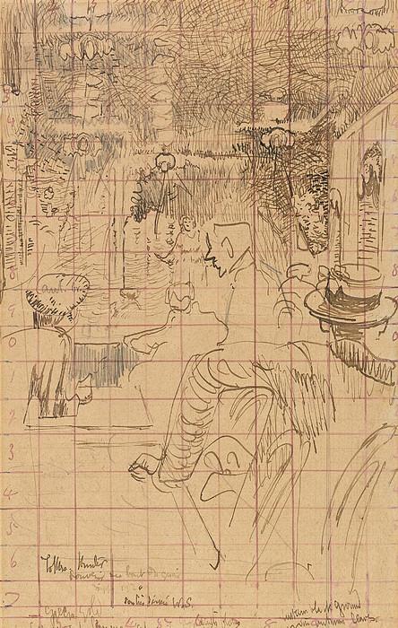 Caf? Concert At Vernets, Dieppe, 1920 Print by Walter Richard Sickert