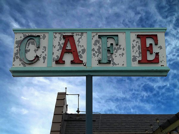 Cafe Print by Glenn McCarthy Art and Photography