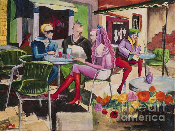 Cafe Marseille Print by Elisabeta Hermann