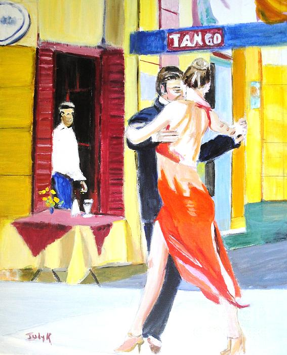Cafe Tango Print by Judy Kay