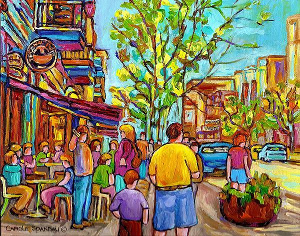 Carole Spandau - Cafes In Springtime