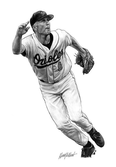 Cal Ripken Jr I Print by Harry West