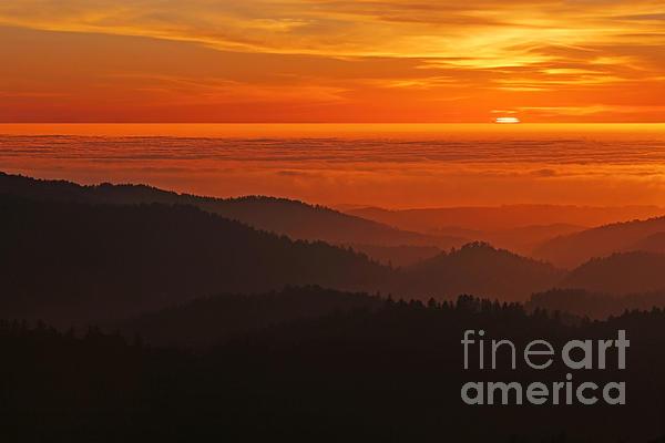 California Mountain Sunset Print by Matt Tilghman