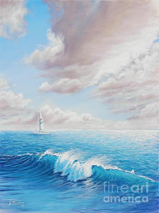 Calming Ocean Print by Joe Mandrick