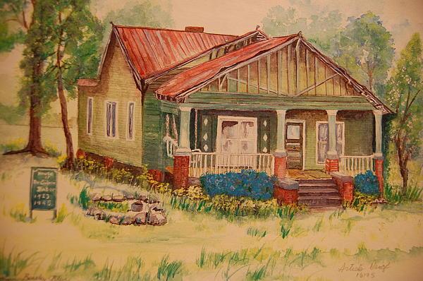 Calvin Baber House Print by Lynn Beazley Blair
