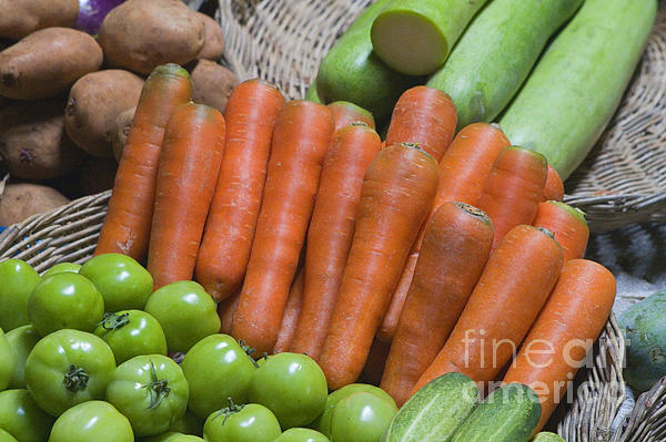 Cambodian Carrots Print by Craig Lovell
