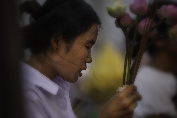 Cambodian Prayers Print by David Longstreath