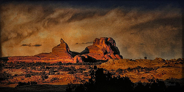 Camelback Canyon Lands Print by Robert Albrecht