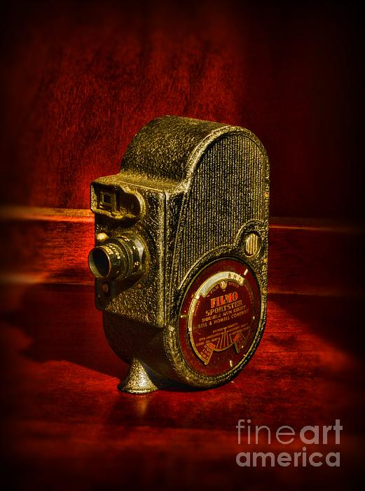 Camera - Bell And Howell Film Camera Print by Paul Ward
